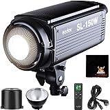 GODOX SL150W LED Video Leuchte 150W LED Videolicht Bowens Halterung Dauerlicht 5600K CRI95+ Qa>90 Fernbedienung Fotostudio Videoaufnahme (SL 150W LED)