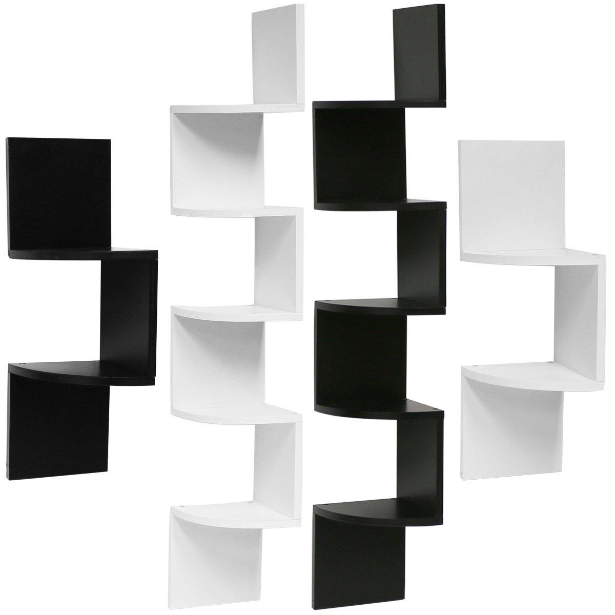 hartleys zig zag corner wall shelf unit  choice of size  colour  - hartleys zig zag corner wall shelf unit  choice of size  colouramazoncouk kitchen  home