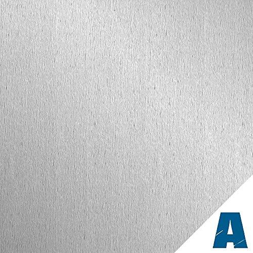 Artesive TEC-017 Acciaio Satinato Opaco larg. 30 cm AL METRO LINEARE - Pellicola Adesiva in vinile effetto metallo per interni per rinnovare mobili, porte e oggetti di casa