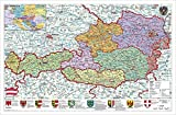 Österreich politisch: Wandkarte - Poster - Stiefel Eurocart
