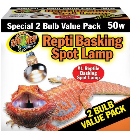 Zoo Med SL2-40e Repti Basking Spot Strahler für Wärme und Licht im Terrarium, Doppelpack 2 x 40 W -