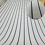 Eva Marine Deck Tabelle Synthetik Teakdecks Boden Anti-Rutsch-Matten für Boot/Yacht 240cm × 89,9cm hellgrau