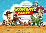 Juego de 10 invitaciones de cumpleaños con un diseño de Toy Story de...