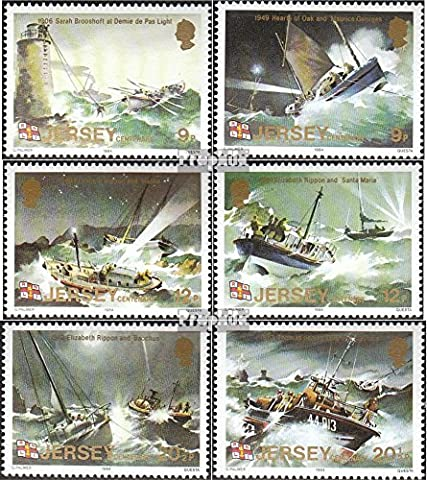 united kingdom-Jersey 324-329 (complete.issue.) unmounted mint / never hinged 1984 RNLI (Stamps for collectors)