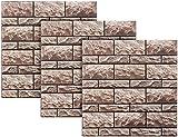 infactory Fliesenfolie Küche: Selbstklebende 3D-Steinwandoptik-Fliesenaufkleber, 30 x 30 cm, 3er-Set (Deko-Klebefolie für Fliese)