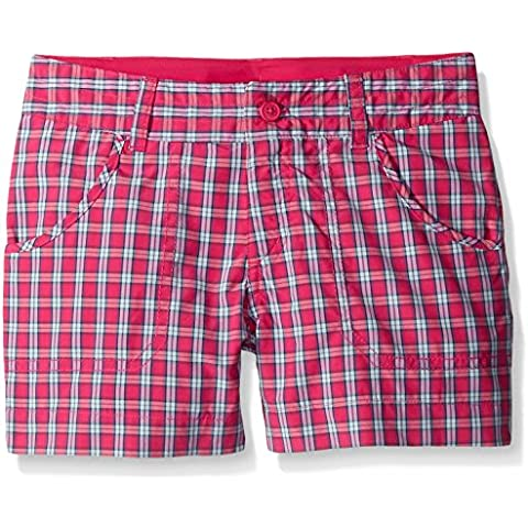 Columbia Silver Ridge III-Girl's, Pantaloncini a scacchi Rosa Haute Pink Plaid M