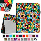 Fintie iPad 1 Folio Case - Slim Fit Vegan Leather Stand Cover with Stylus Holder for Apple iPad 1 1st Generation, Mosaic