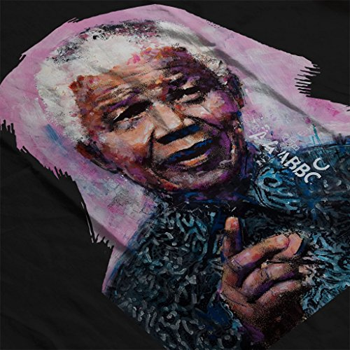 Sidney Maurer Nelson Mandela Official Women's Hooded Sweatshirt Black