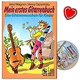 Mein erstes Gitarrenbuch - Gitarrenvorschule mit CD - Lehrwerk führt mit rhythmisierter Sprache, Singen und getrennter Erarbeitung von rechter und linker Hand - mit herzförmiger Notenklammer