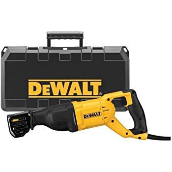 DEWALT DWE305PK-QS Scie sabre filaire - 1100W - Spéciale applications difficiles - Course à vide 0-2800 cps/min - Course de la lame 29 mm - Fixation 4 positions - Mallette de transport robuste