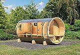 Karibu Fass - Sauna 4 42 mm inkl. 9-kW-Ofen