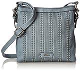 Gabor Handtasche Damen Milena, Umhängetasche, Blau (Hellblau), 6,5x25x25 cm