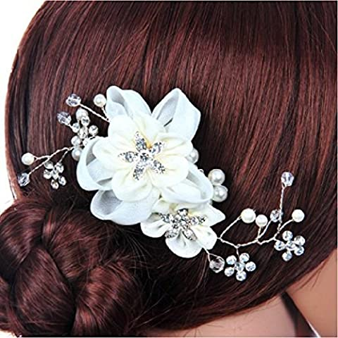 Bridal Wedding Veewon Fashion testa a fiore da Pettine per capelli, accessorio Headpieces laterale
