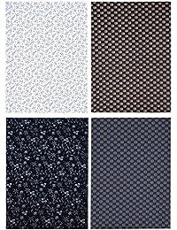 Kundan Sulz Gwalior Men's Executive Fancy Cotton Print Shirt Fabric Combo Set ( 4 Shirt Piece for Men )
