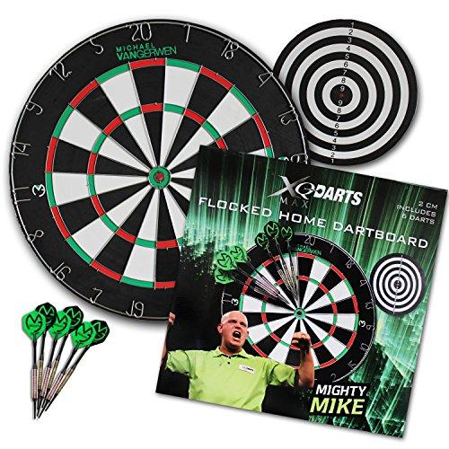 Flocked Home Dartboard Set inkl.6 Pfeile-Michael van Gerwen Edition
