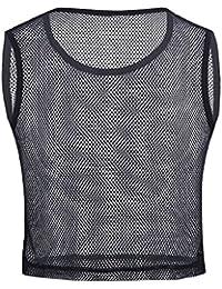 iiniim Herren Tank Top Transparent Fitness Unterhemd Männer Netzhemd  Netzshirt Ärmellos Weste S M L b3039250a4