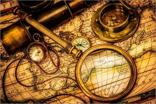 Stampa su tela 120 x 80 cm: Expedition to forgotten worlds di Colourbox - poster pronti, foto su telaio, foto su vera tela, stampa su tela