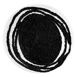 InterDesign 18705EU Doodle Tapis Microfibre Noir 33,02 x 62,23 cm