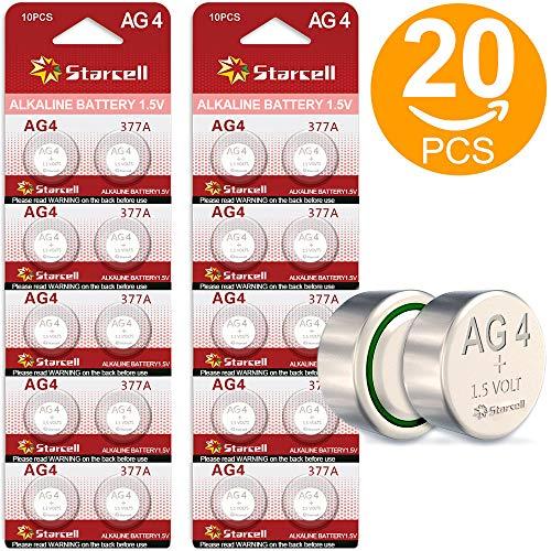 Act 20 Alkaline-Knopfzelle (AG4/LR66/LR626/377, 1,5V, 10-er Blister)