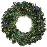 WeRChristmas - Corona de Navidad con iluminación (60 cm, 20 bombillas LED multicolor)