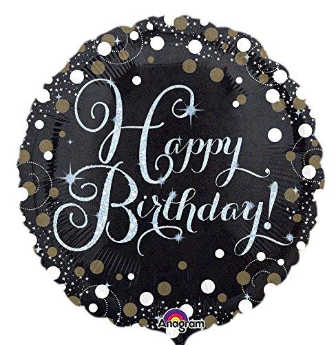 amscan 3406201 Sparkling Birthday Folienballon, Mehrfarbig