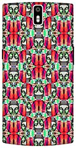 The Racoon Grip printed designer hard back mobile phone case cover for Oneplus One. (psychedeli)