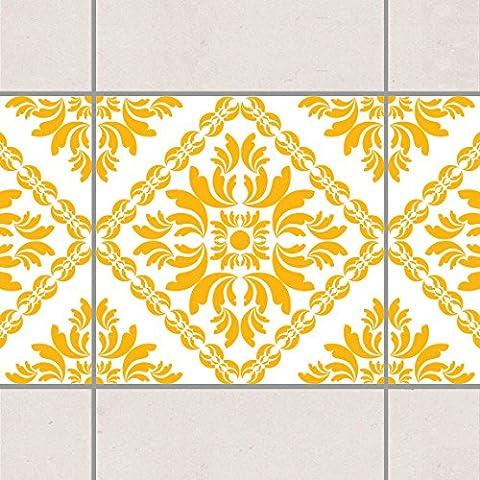 Fliesen Bordüre - Vera Rosa White Melon Yellow 20cm x 20cm, Setgröße:20teilig