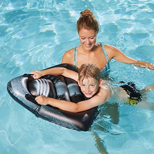 Unbekannt Star Wars aufblasbares Schwimmbrett mit Haltegriffen Kylo Ren Kopf 70 cm • Luftmatratze Wasser Spielzeug Kinder Wasserspaß Strand