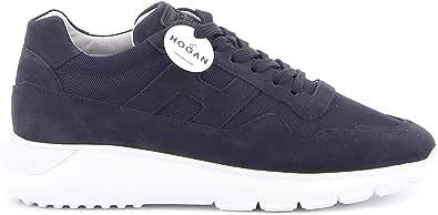 Hogan Sneakers Uomo HXM3710AJ1067A3735 Camoscio Blu