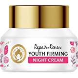 Mom & World Repair + Renew Youth Firming Night Cream - With Vitamin C, Retinol For Smooth & Bright and Younger Looking Skin,