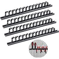 Support pour outils, Porte-outil pour tournevis/clefs,Set de barrettes à attaches 4 pièce Parat (4 Noir)