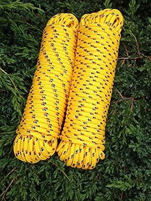 Nº 22amarilla rocío de 6mm x 30m, Cordino, comba,, cuerda, flechtschnur, cuerda de polipropileno (, polipropileno Cuerda, Barco Cuerda, ancla cuerda, amarre