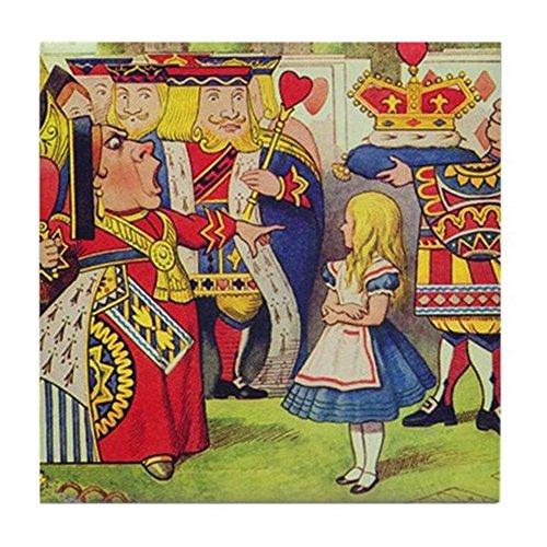 CafePress–Die Königin Der Herzen mit Alice–Tile Untersetzer, Drink Untersetzer, Untersetzer, Klein (Wonderland Königin Der Herzen)