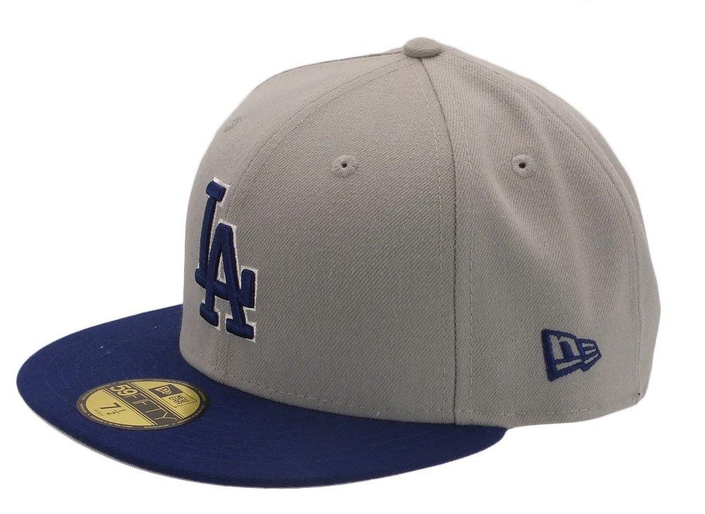 New Era - Cappellino MLB 59Fifty Los Angeles Dodgers Reverse, simbolo MLB, grigio (grigio), 7 1/8