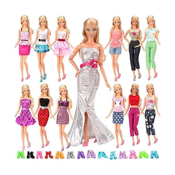 6a765963d ... pares zapatos para Barbie Muñeca gegalo Navidad. -7%. 15X-articulos5-X- Vestidos-estilo-al-azar-10-