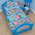 Peppa Pig George Family Childrens Toddler Junior Cot bed, Boys, Blue - cheap UK light shop.