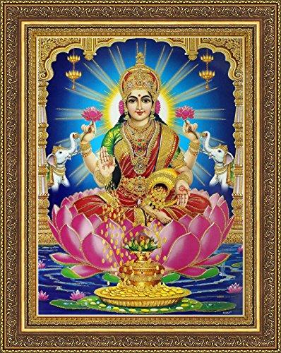 avercart-goddess-laxmi-shri-lakshmi-laxmiji-goddess-of-wealth-poster-30x40-cm-with-photo-frame-12x16