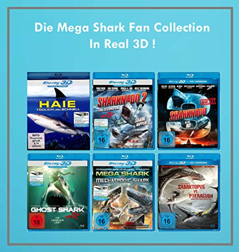 Die Mega Shark Fan Collection in Real 3D ( 11 Hai - Action Filme ) [Blu-ray]