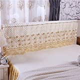 Zhiyuan Quilted Lace Headboard Slipcover, 180 x 50 cm, Bisque