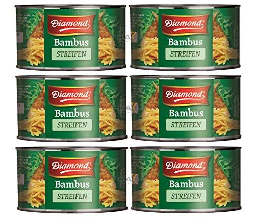 6er Pack DIAMOND Bambussprossen Streifen [6x 227g] Bambus Streifen