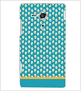 PrintDhaba Floral Pattern D-1892 Back Case Cover for SONY XPERIA SP (Multi-Coloured)