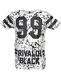 Rivaldi black - Moltivin optic white tee - Tee shirt manches courtes
