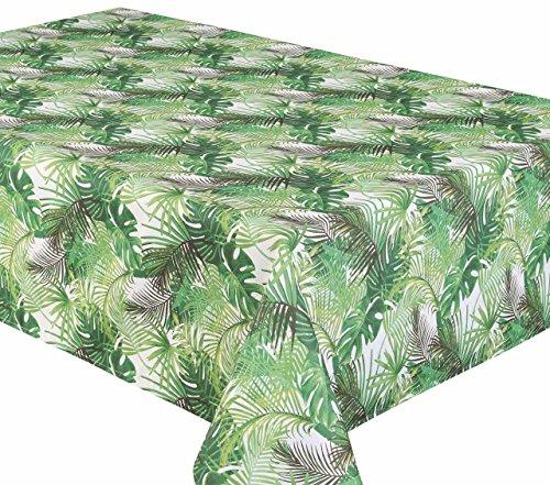 Texstyles Tischdecke Outdoor Poly Leinen Tischdecken, Dass abwischbar Wie Vinyl Tischdecken 147,3x 238,8cm Palmen