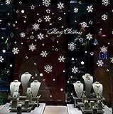 Cdet Pegatina de pared calcomanías de cristal de Navidad paisaje de ventana de regalo de Navidad