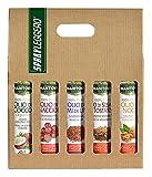 Confezione 5 x 200 ml spray nutraceutico: olio Sesamo Tostato, di Cocco, di Vinacciolo, di Noce e di Semi di Lino
