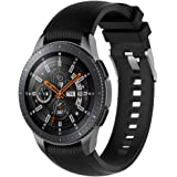 HappyTop Bracelet de montre en silicone compatible avec Samsung Galaxy Watch 46 mm pour enfants/adultes