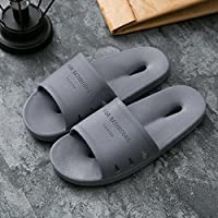 fankou Slippers Women Indoor Summer Anti-Slip Home with Lovely Cartoon Couples Home Bath Bathroom Cool Slippers Male Summer,41-42, Gray Hole-Hole Cool Slippers