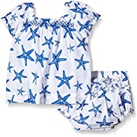 Hatley Infant Ruffle Bloomer Set-Star Fish-Set Bimbo