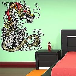 Dragon Chino vinilos decorativo Monstruo adhesivos pegatina pared Niños Dormitorio Decoración Disponible en 8 Tamaños Grande Digital