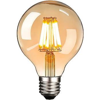 Vintage LED Edison Glühbirne, Elfeland E27 6W Antike LED